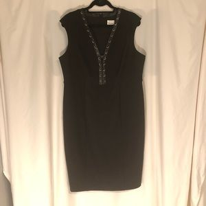 NWOT Beyond by Ashley Graham Black Lace Up Dress